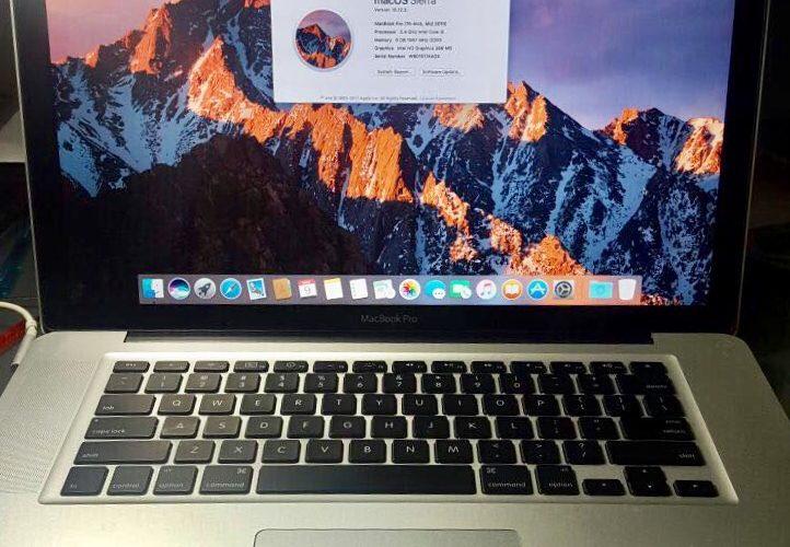 Late 2010 Apple MacBook Pro