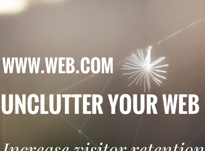 Unclutter your Web for higher visitor retention
